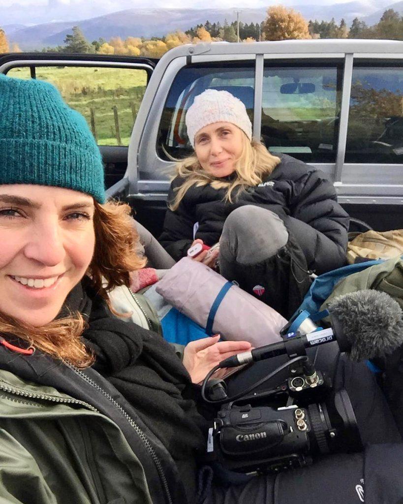 Danni and Ida on Scotland shoot