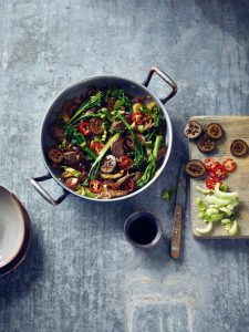 Rich Beef Stir Fry with Pickled Walnuts